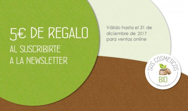 5 euros de regalo en cosmética natural