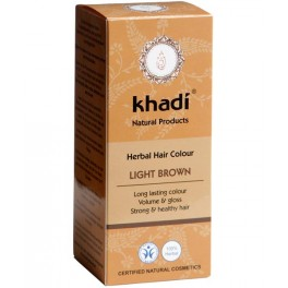 KHADI HERBAL COLOR CASTAÑO CLARO 100G