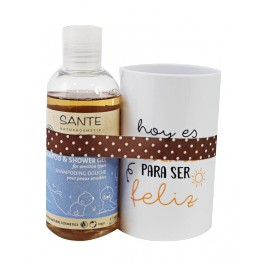 SANTE GEL BAÑO KIDS SENSITIVE+REGALO VASO