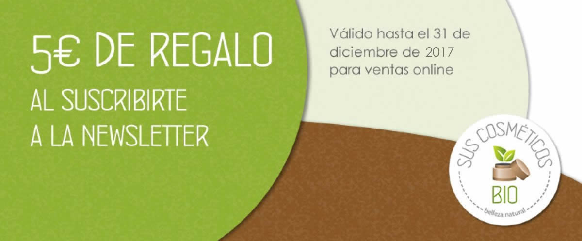 5 euros de regalo al suscribirte a la newsletter