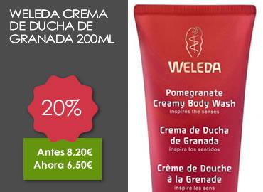 OFERTA WELEDA CREMA DE DUCHA DE GRANADA 200ML
