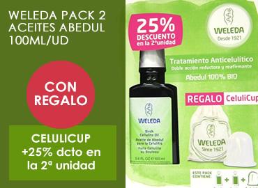 WELEDA PACK 2 ACEITES ABEDUL 100ML/UD +REGALO CELULICUP